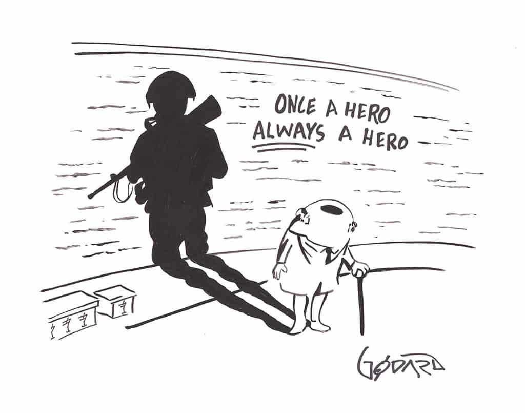 """Once a Hero Always a Hero,"" Michael Godard"