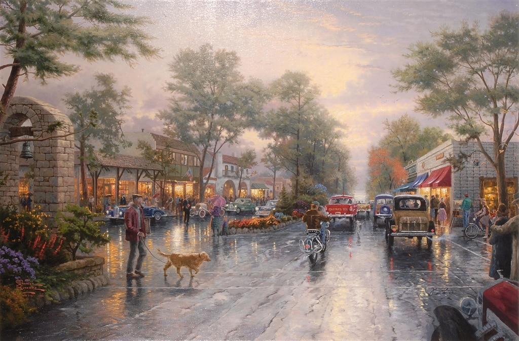 """Carmel Sunset on Ocean Avenue,"" Thomas Kinkade"