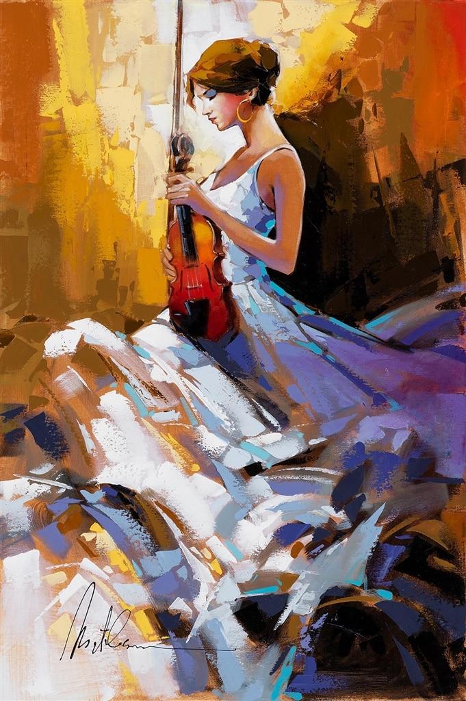 """Passionate Violinist II,"" Anatoly Metlan"