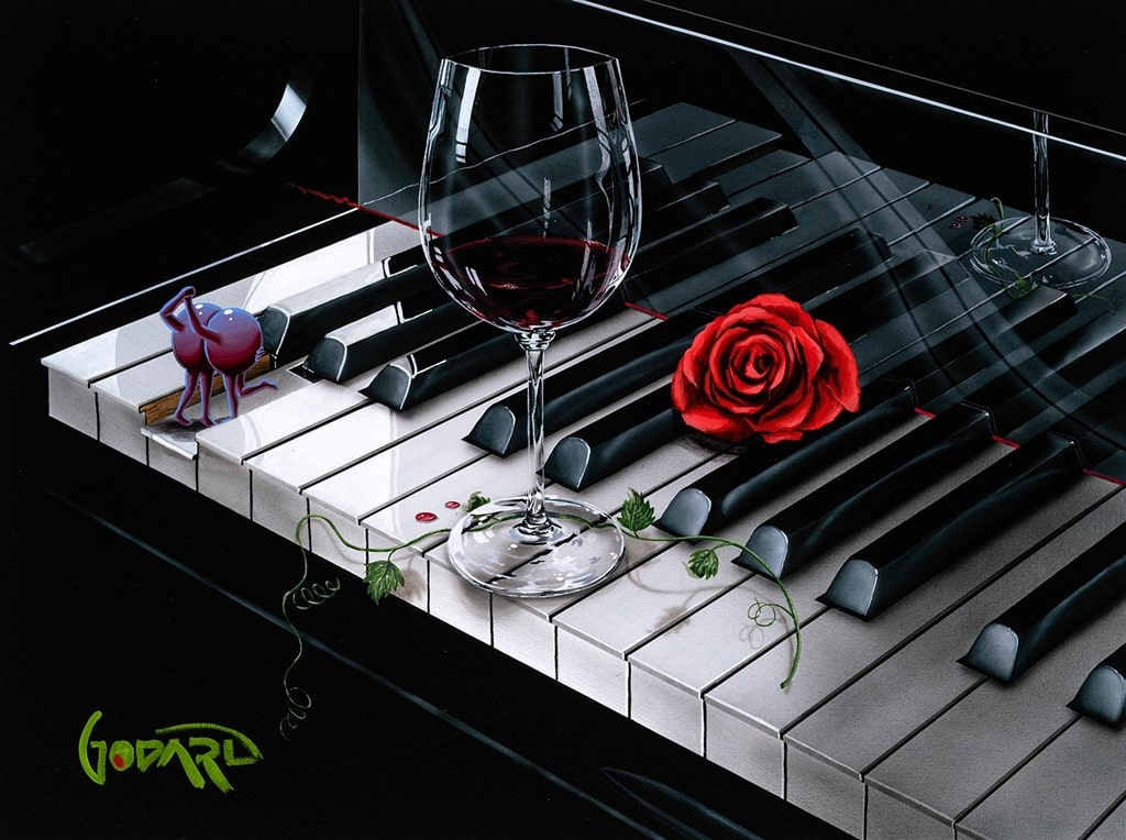 """Piano Keys,"" Michael Godard"