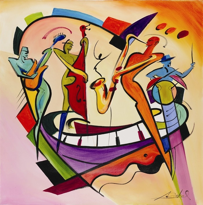 """""""Jazzy Night Out,"""" Alfred Gockel"""