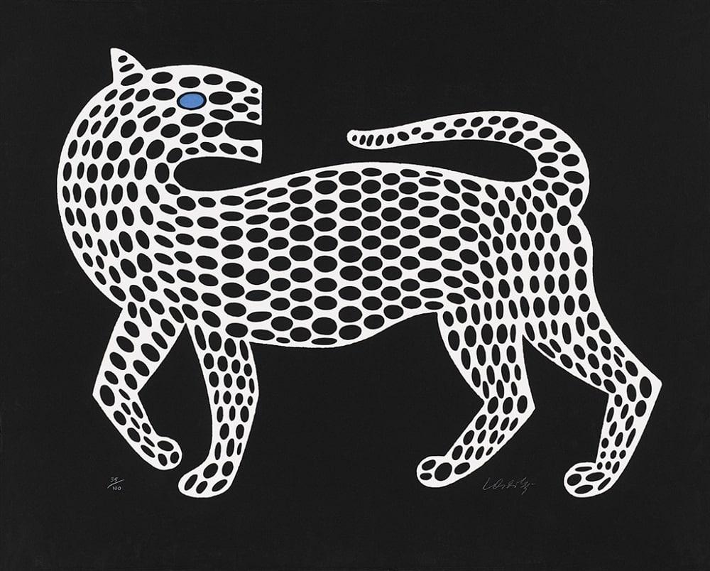 """Leopard, Black-White,"" Victor Vasarely"