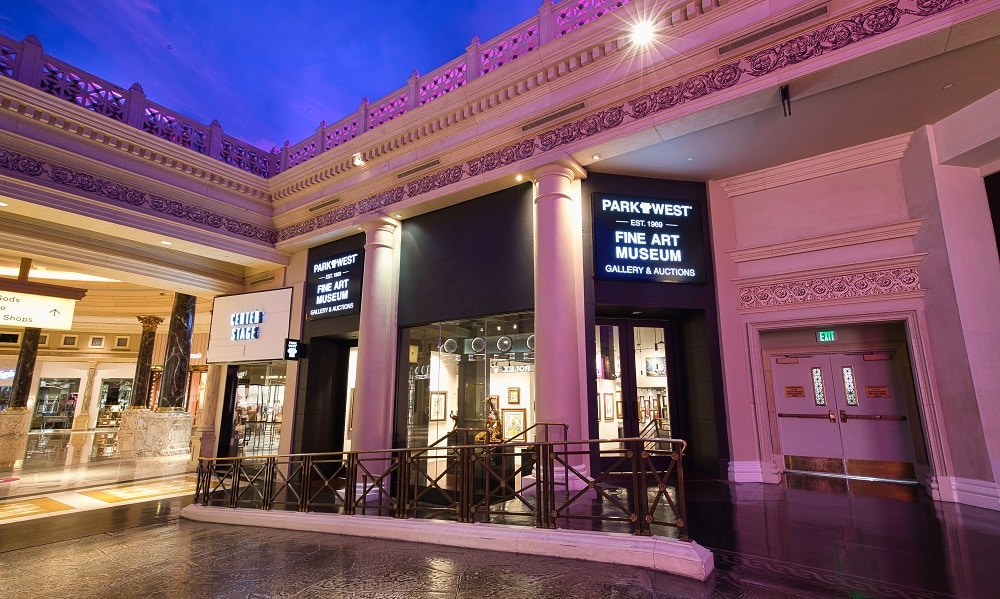 Park West's new location inside the Forum Shops at Caesars Palace.