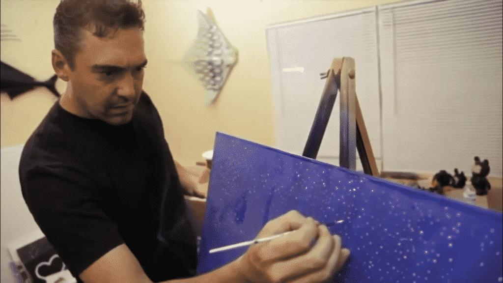 Cris X in his studio