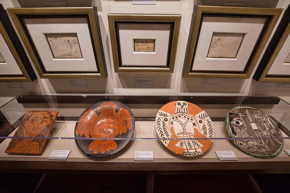 Picasso ceramics on display at Park West Vegas.