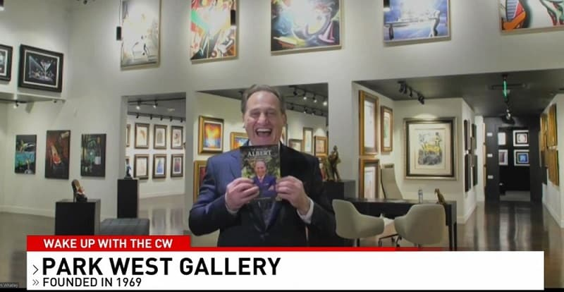 Albert Scaglione appearing inside the new Park West Fine Art Museum & Gallery in Las Vegas.