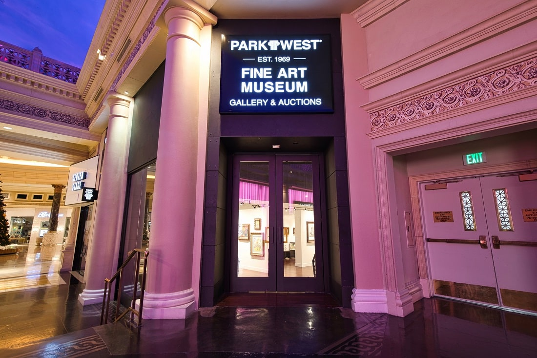 You can find the Park West Fine Art Museum & Gallery in the Forum Shops at Caesars Palace Las Vegas
