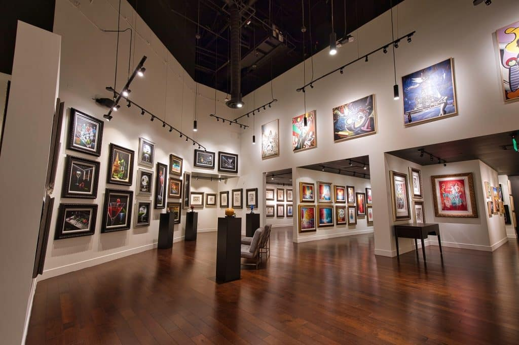 The Park West Fine Art Museum & Gallery is located inside the Forum Shops at Caesars Palace on the Las Vegas Strip.