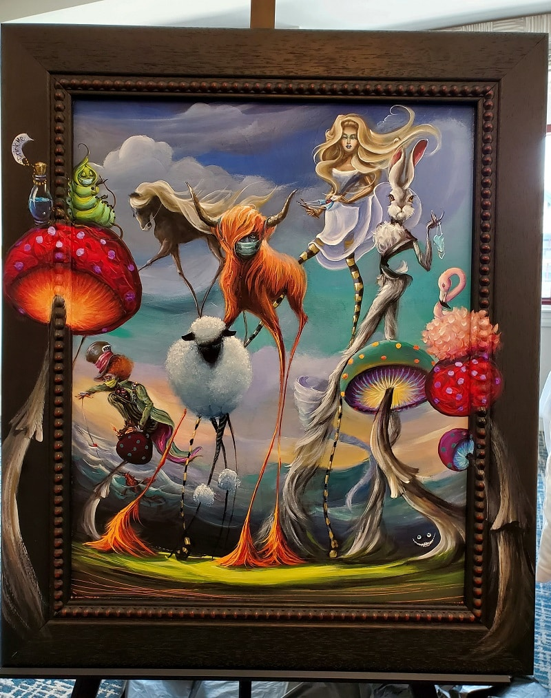 Original painting by Kat Tatz, the 2021 Made in Vegas Artist Competition grand prize winner