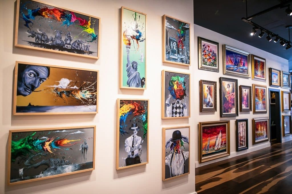 Art in display at Park West Hawaii